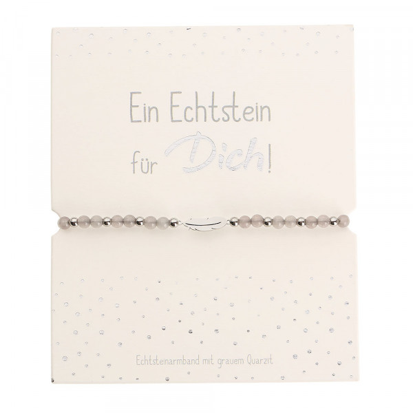 Echtsteinarmband - Grauer Quarzit