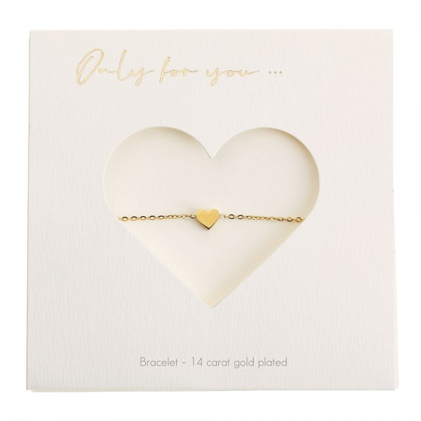Bracelet - Only For You - Heart - Gold-Plated