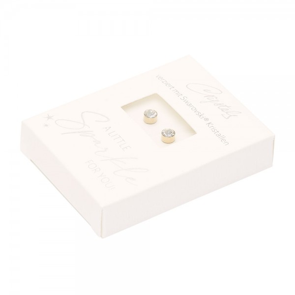 Studs - Sparkle - Gold Plated - Crystal
