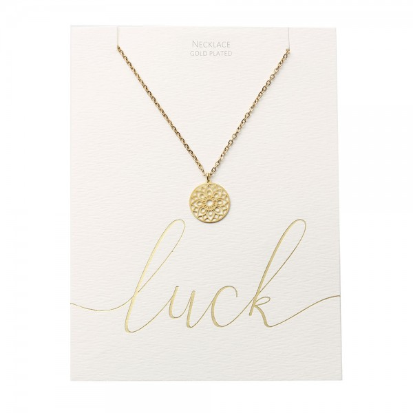 Necklace - Gold-Plated - Mandala Of Luck
