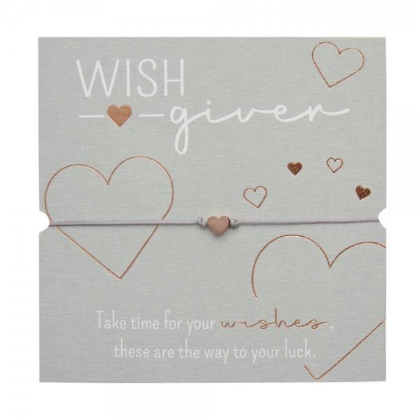 Bracelet - Wish giver - Heart - Rose Gold Plated