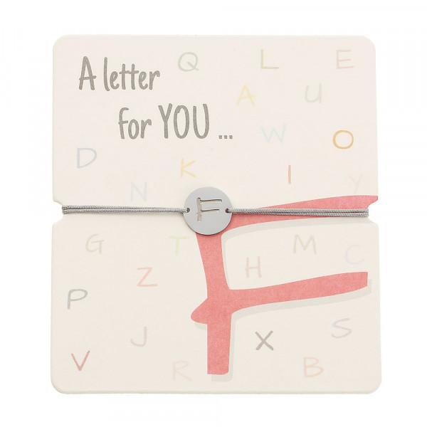 Armband mit Buchstaben - F
