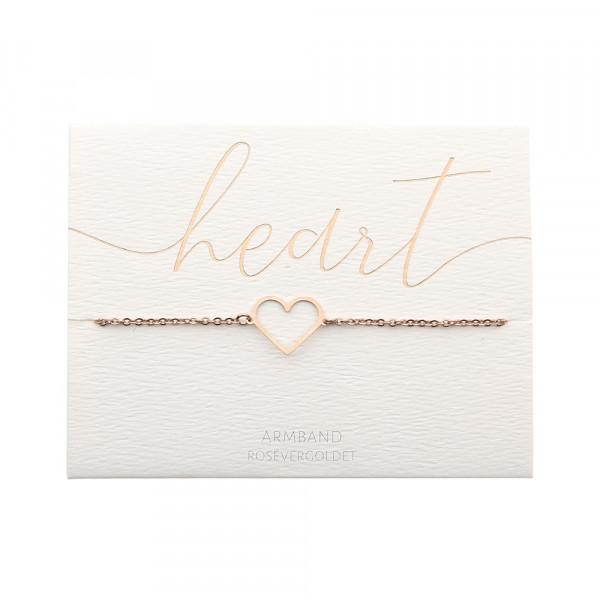 Armband - rosévergoldet - Herz