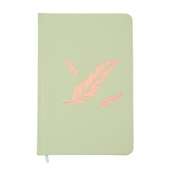 Notizbuch Engelsfedern - hellgrün