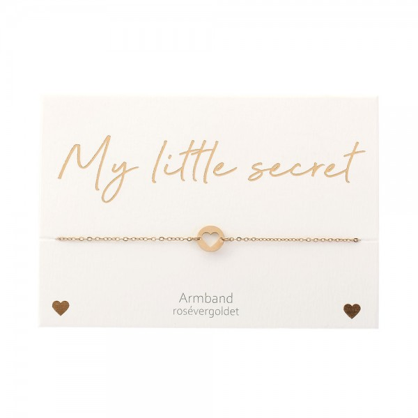 Armband - My little secret - rosévergoldet - Herz