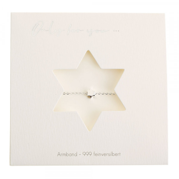 Bracelet - Only For You - Star - Silver-Plated