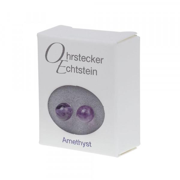 Ohrstecker - Echtstein - Amethyst