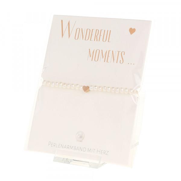 Armband - Wonderful moments - Herz - rosévergoldet