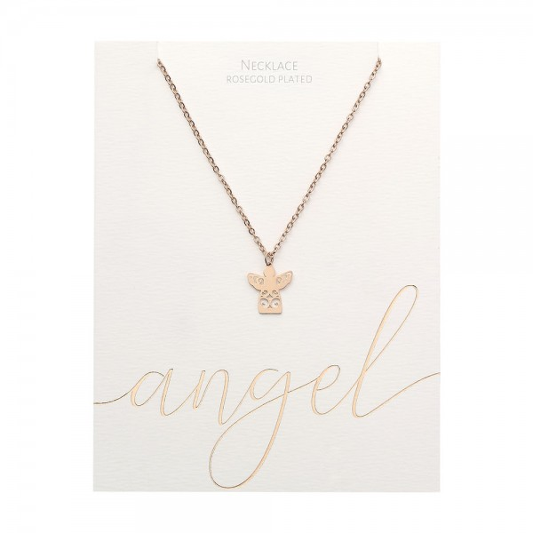 Necklace - Rosegold-Plated - Angel
