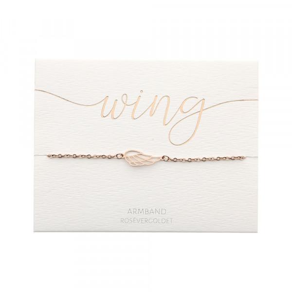Armband - rosévergoldet - Engelsflügel