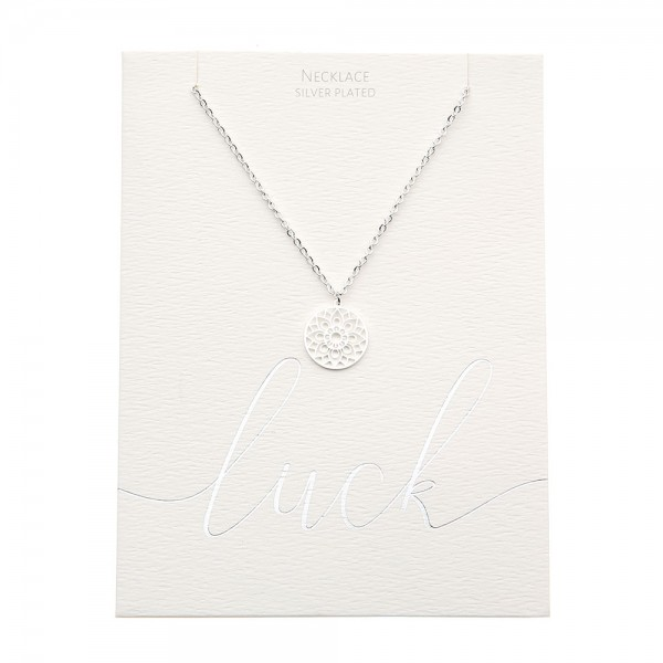 Necklace - Silver-Plated - Mandala Of Luck