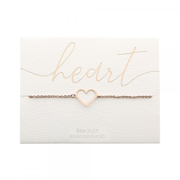 Bracelet - Rosegold-Plated - Heart