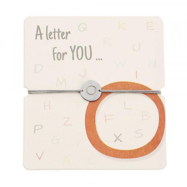 Armband mit Buchstaben - O