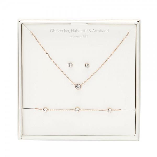 Geschenkbox - Sparkle - rosévergoldet - Kristall