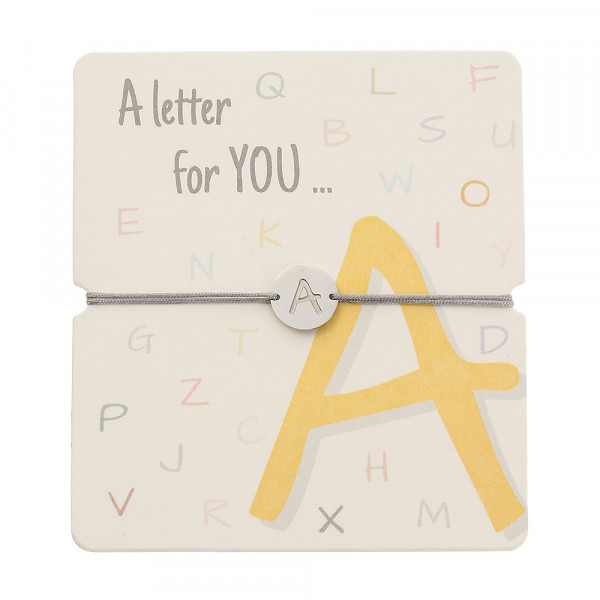 Armband mit Buchstaben - A