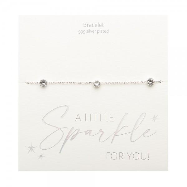 Bracelet - Sparkle - Silver Plated - Crystal