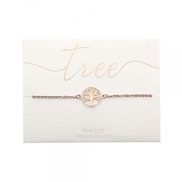 Bracelet - Rosegold-Plated - Tree Of Life