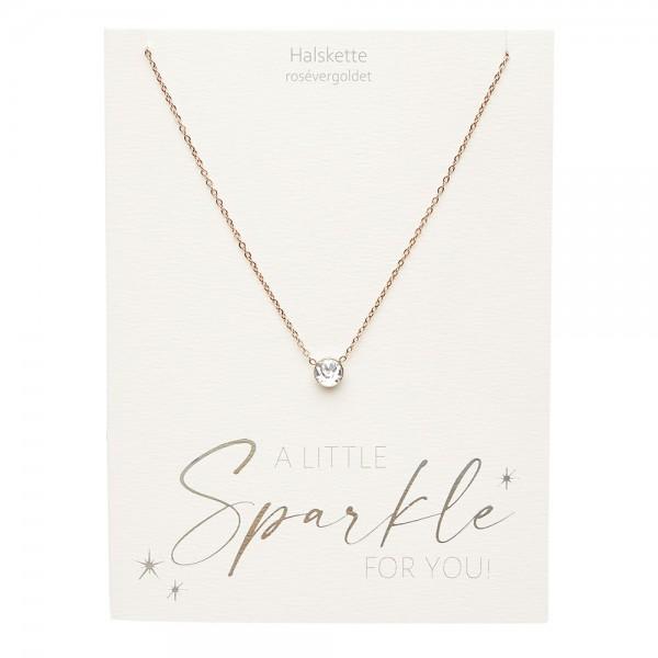 Halskette - Sparkle - rosévergoldet - Kristall