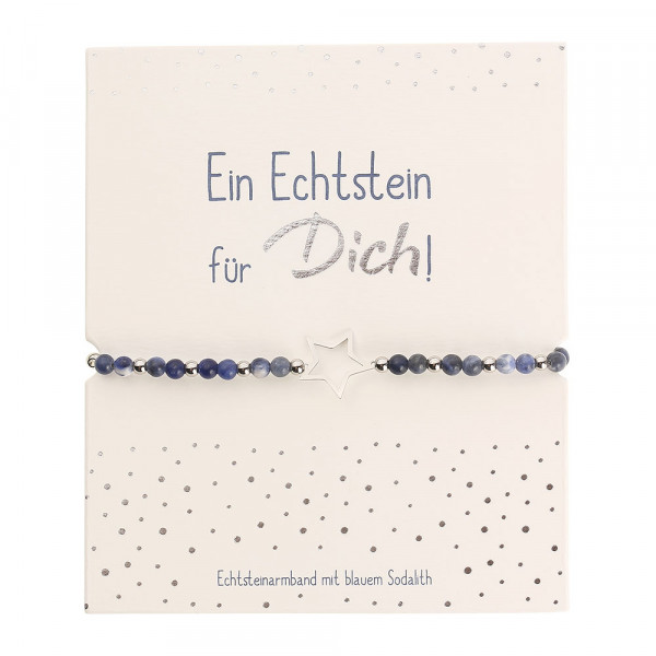 Echtsteinarmband - Blauer Sodalith