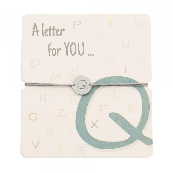 Armband mit Buchstaben - Q