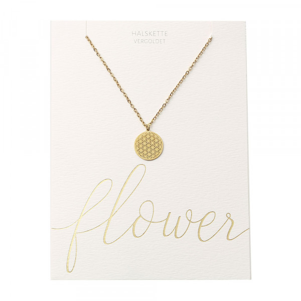 Necklace - Gold Plated - Flower Of Life