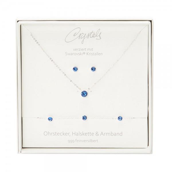 Geschenkbox - Sparkle - feinversilbert - dunkler Saphir