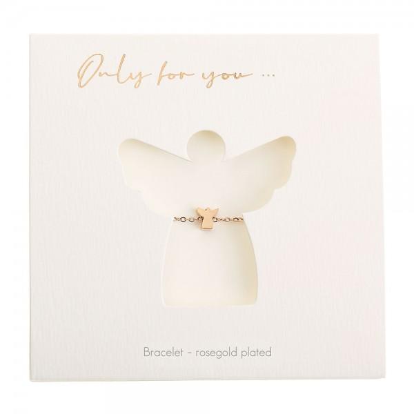Bracelet - Only For You - Angel - Rosegold-Plated