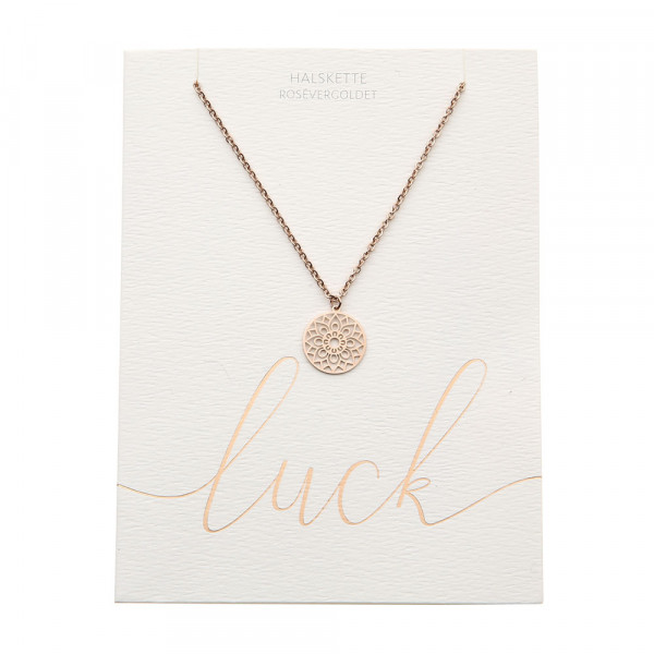 Necklace - Rose Gold Plated - Mandala Of Luck