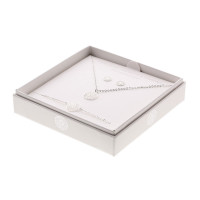 Geschenkset - Halskette-Armband-Ohrstecker - feinversilbert - Mandala des Glücks