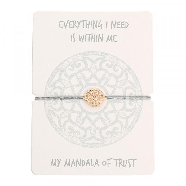 Armband - Mandala des Vertrauens - rosévergoldet