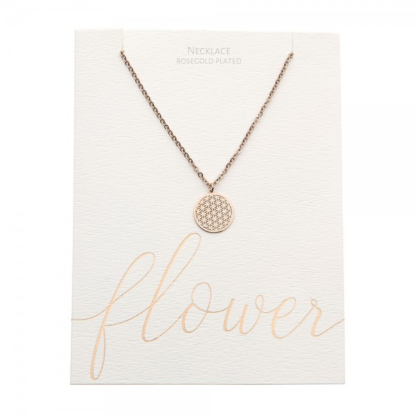 Necklace - Rosegold-Plated - Flower Of Life