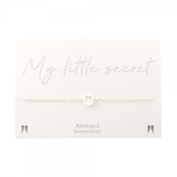 Armband - My little secret - feinversilbert - Engelsflügel