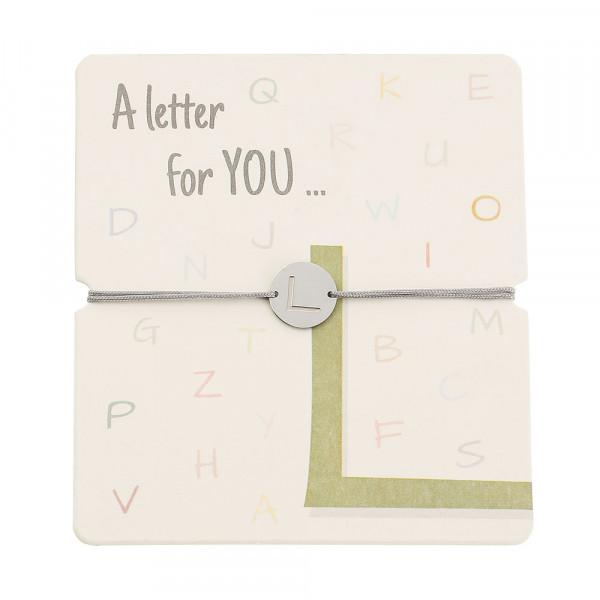 Armband mit Buchstaben - L