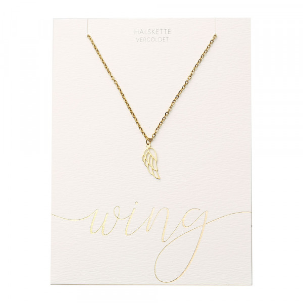 Necklace - Gold Plated - Angel Wing