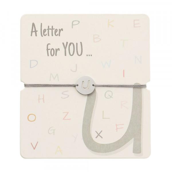 Armband mit Buchstaben - U