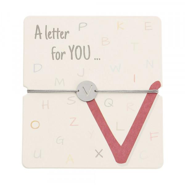 Armband mit Buchstaben - V