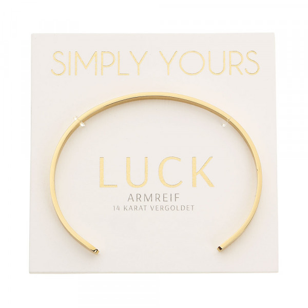 Armreif - Simply yours - vergoldet - Luck