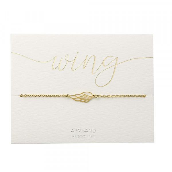 Armband - vergoldet - Engelsflügel