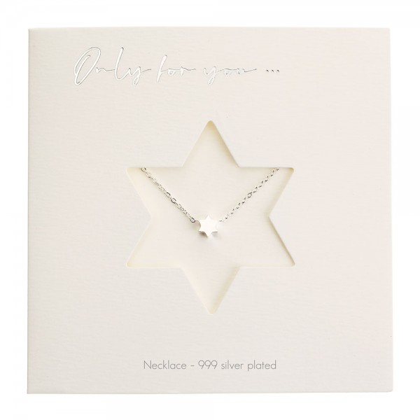 Necklace - Only For You - Star - Silver-Plated