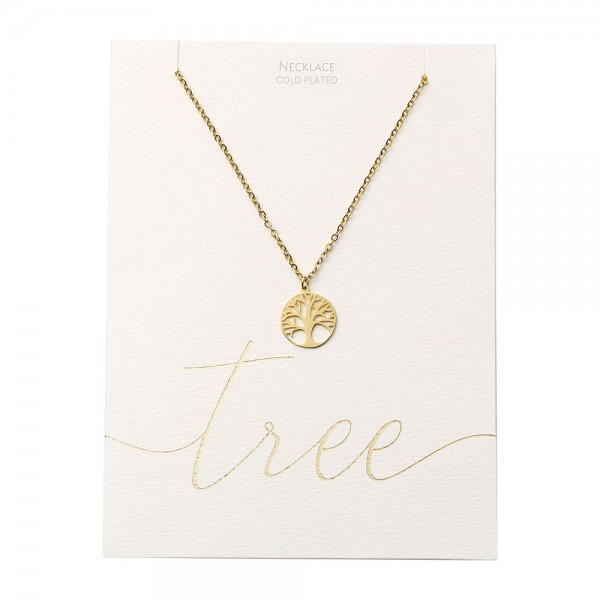 Necklace - Gold-Plated - Tree Of Life