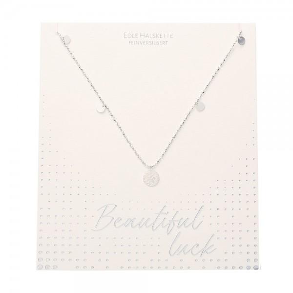 Halskette - Beautiful - Mandala des Glücks - feinversilbert