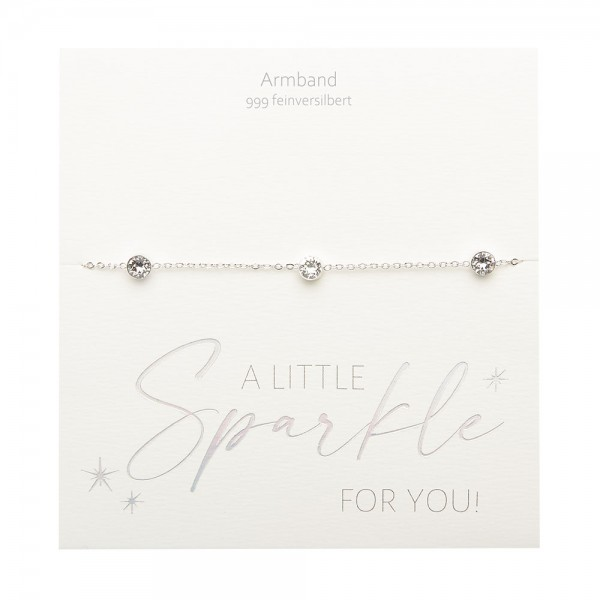 Armband - Sparkle - feinversilbert - Kristall
