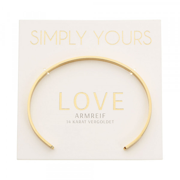 Armreif - Simply yours - vergoldet - Love