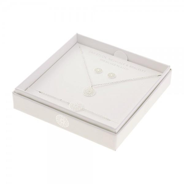 Gift Set Jewellery Silver-Plated - Mandala Of Luck