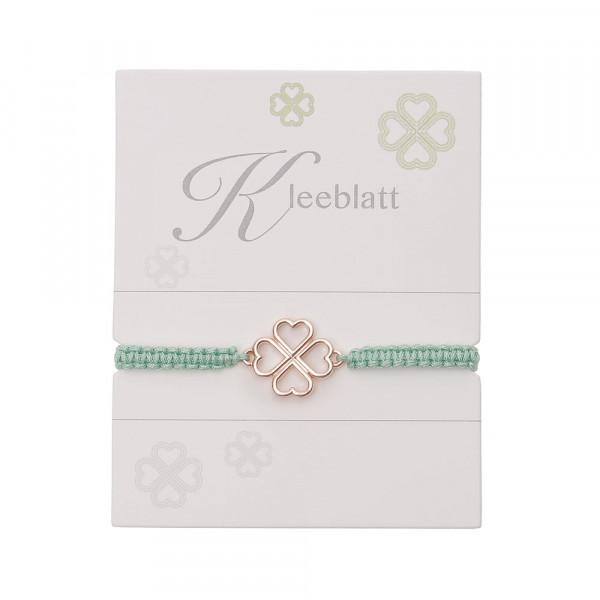 """Geknüpftes Armband """"Kleeblatt"""""""