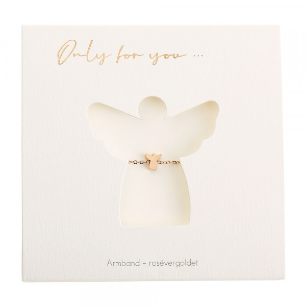 Bracelet - Only For You - Angel - Rosegold-Plated