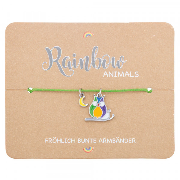 "Rainbow Animals ""Eule"""