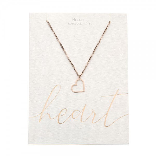 Necklace - Rosegold-Plated - Heart