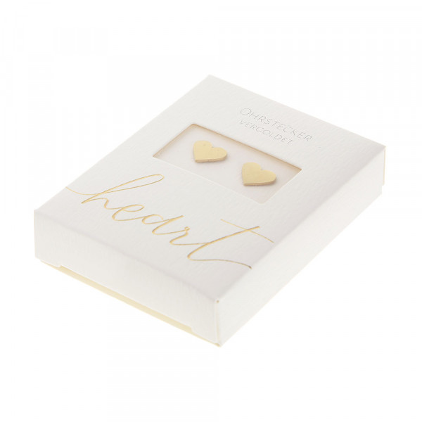 Studs Gold Plated - Heart