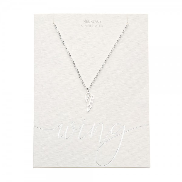 Necklace - Silver-Plated - Angel Wing